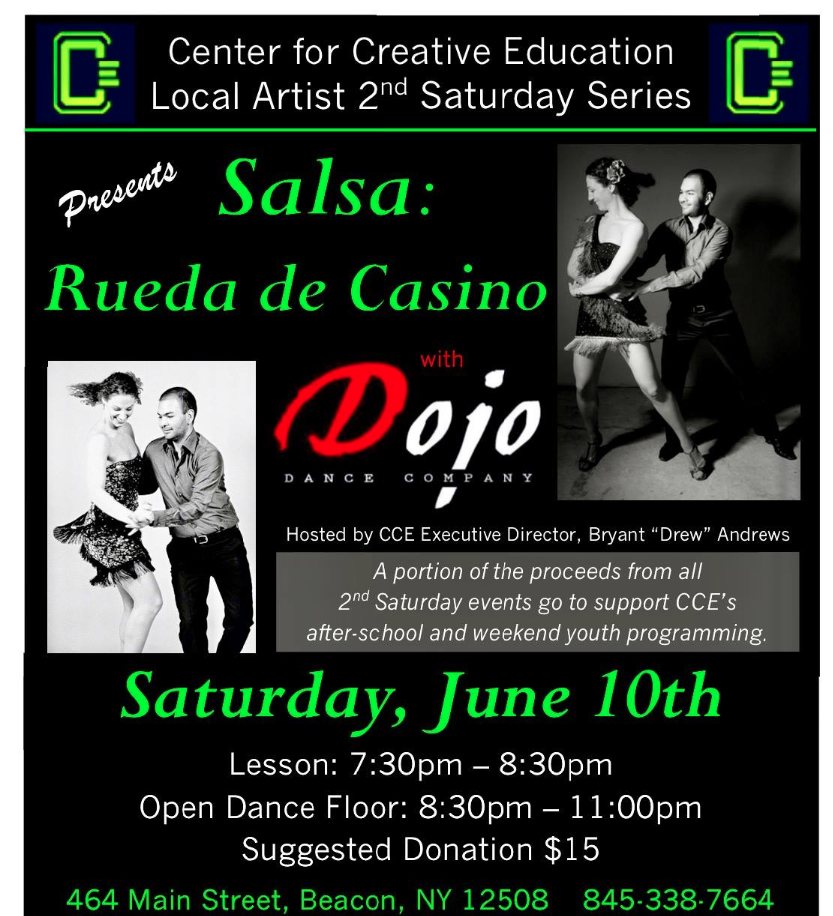 Salsa Dance In Beacon Saturday 6-10-17 at 7:300PM With a FREE Lesson